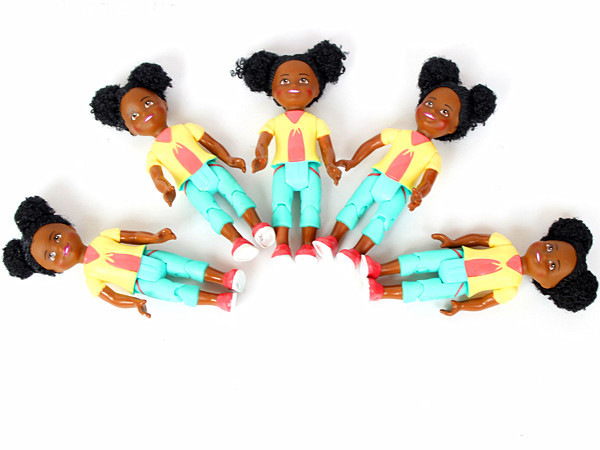 5 PCS Original Small Kelly dolls Mini Africa Black Kids Girls for Barbie doll Baby Toy Birthday Gift(China (Mainland))