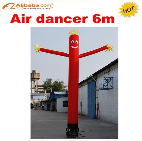6m one leg costume advertising inflatable air dancer, most popular inflatable advertising dancing man(China (Mainland))