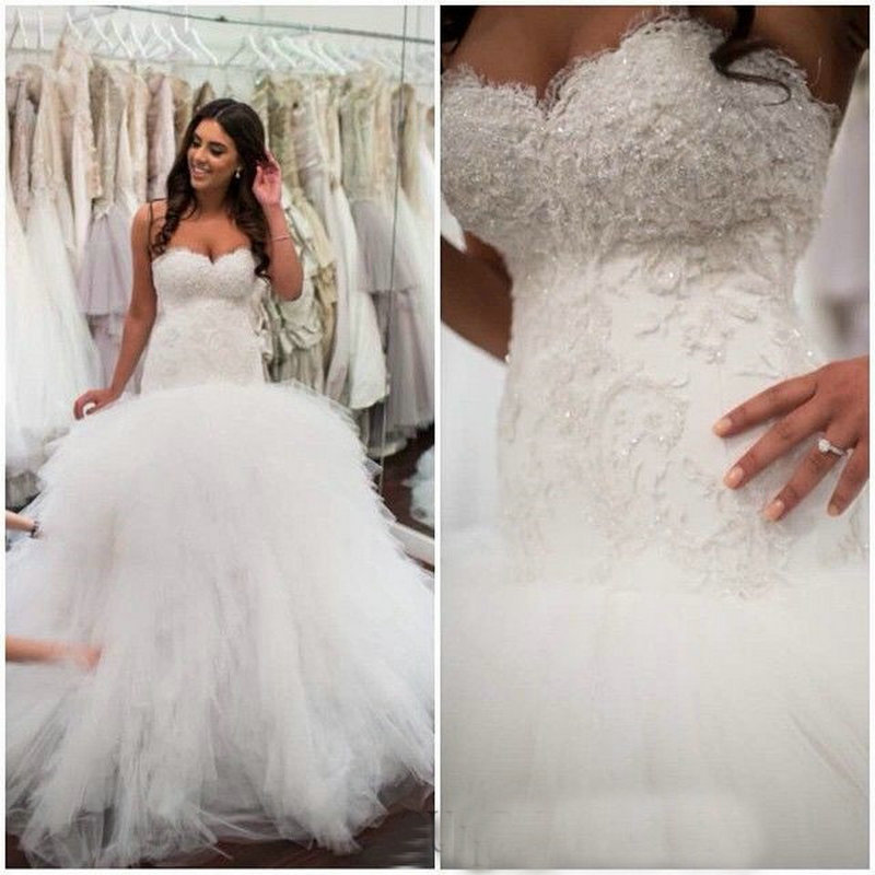 dropped waist ball gown wedding dress 2015 vestidos de novia lace
