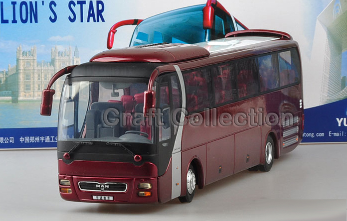 *Red 1:43 Yutong Bus 1:42 ZK6128HGK MAN Travel Bus High Simulation Alloy Toys Scale Models Passenger Station Wagon Double Decker(China (Mainland))