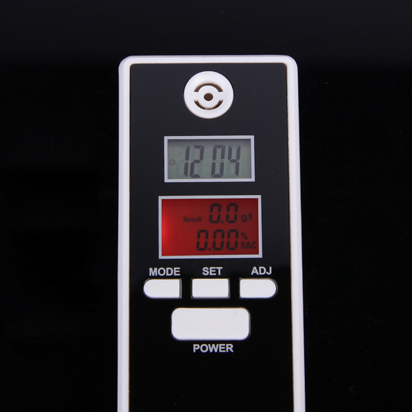 Portable breath alcohol tester Dual Screen Digital Breath Alcohol Tester with Clock Display and Countdown Function Free Shipping(China (Mainland))