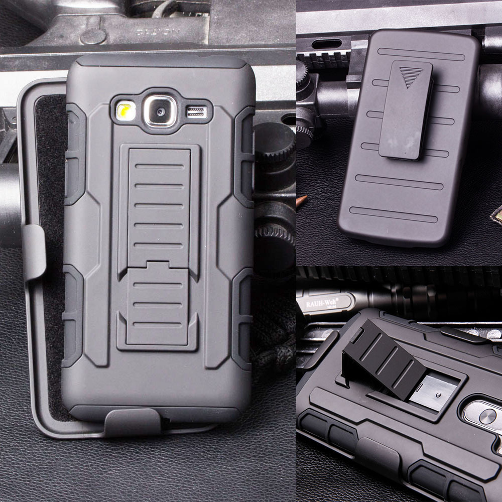 Rugged Armor Impact Holster Hard Case for Samsung Galaxy Grand Prime G530 G530H G5308W Cell Phone Cover Stand Shell Skin+ Stylus(China (Mainland))