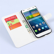 New Litchi Leather Case Flip Cover For Huawei Ascend G7 L01 L03 C199 Phone Stand Case with Card Slots Free Shipping