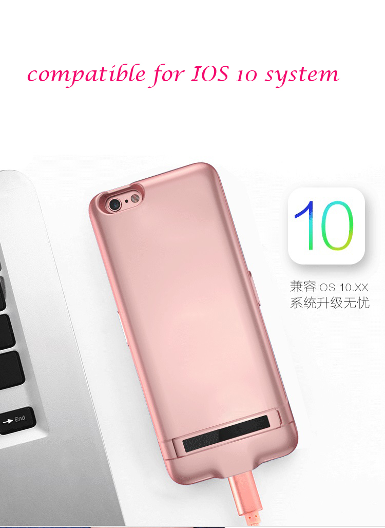 Recommend charger case 10000mAh for iPhone 6 6S Portable Ultra Thin Backshell wireless charge case External Battery power bank