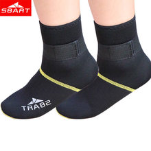 SBART Neoprene Socks 3MM Diving Socks Swim Dive Boots scuba boot neoprene wetsuit scratches warming non-slip winter swimming(China (Mainland))