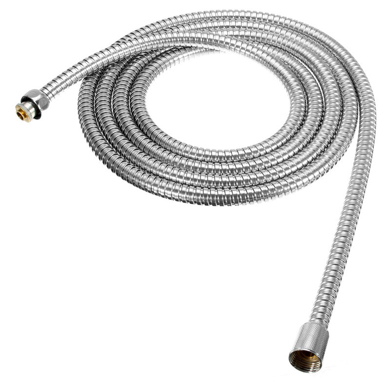 Best Quality Long Stainless Steel 1/2 inch Bath Shower Flexible Hose Pipe Bathroom Product Easy To Install For 3m Length(China (Mainland))