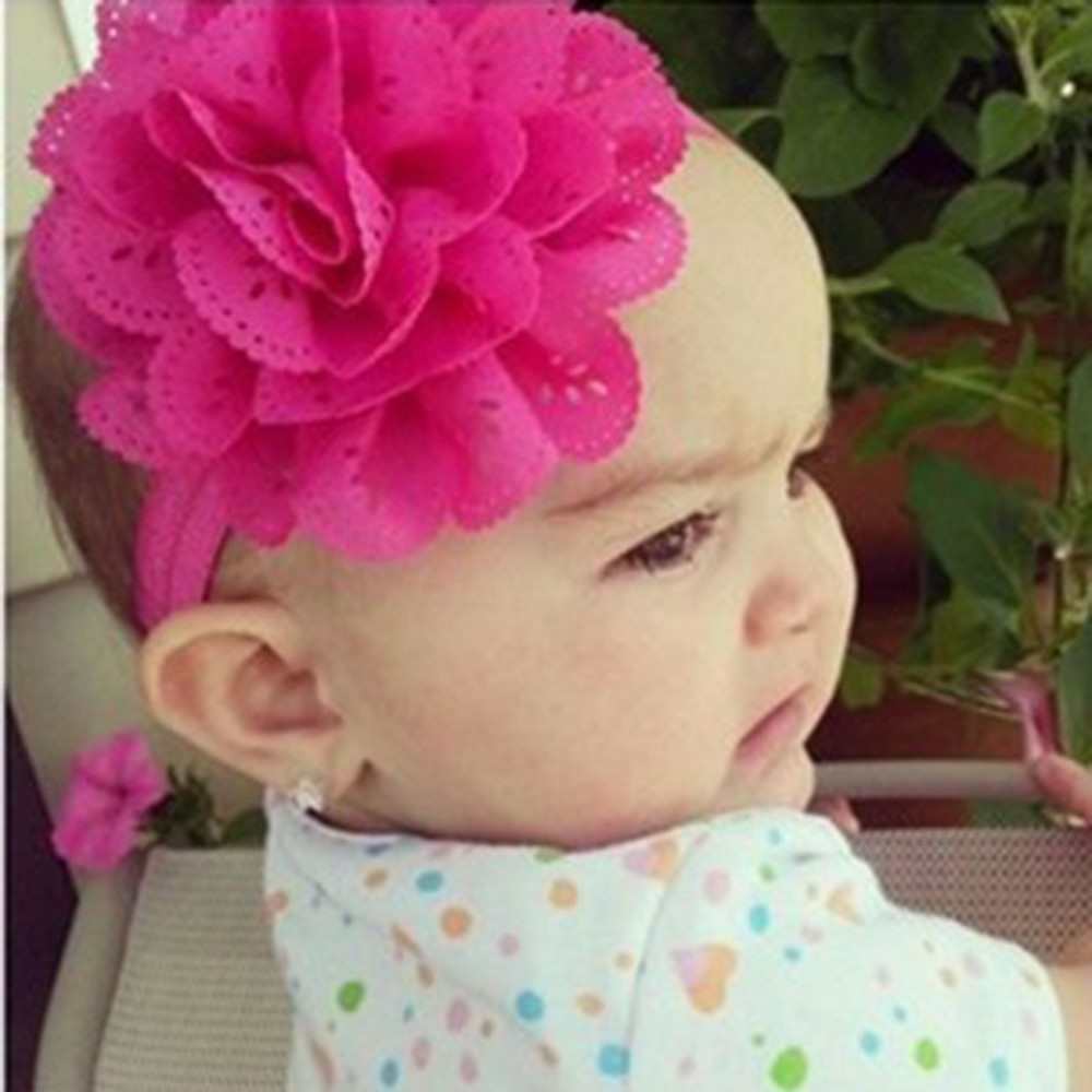Chic 1PC Lace Flower Kids Baby Girl Toddler Headband Hair Band Headwear Accessories