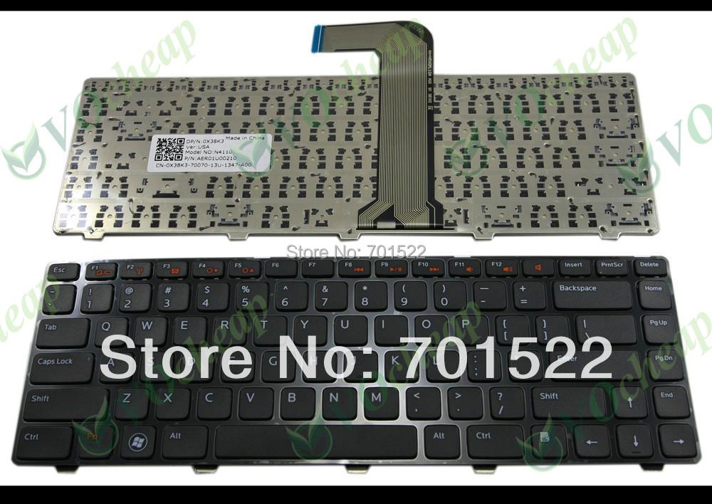 цена на Клавиатура для ноутбука Darfon Dell Inspiron 14R 14R N4110 M4110 N4050 M4040 N5050 M5050 M5040 N5040 /0x38k3 DP/N: 0X38K3, AER01U00210, MP-10K63US-442, 9Z.N5XSC.001 NSK-DX0SC