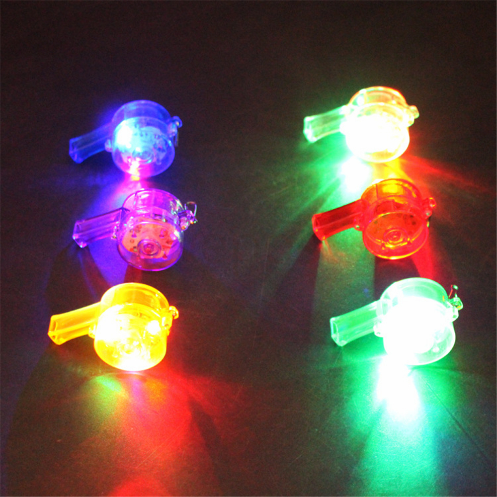 30pcs/lot Funny Colorful Flashing Whistles Blinking Growing Toy LED Party Supplies Lighting up Toy cotillon Show Decoration(China (Mainland))