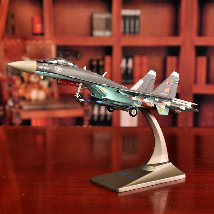 Fighter model diecast SU35 sukohi 35 aircraft model Static display Alloy Grade Show Research level(China (Mainland))