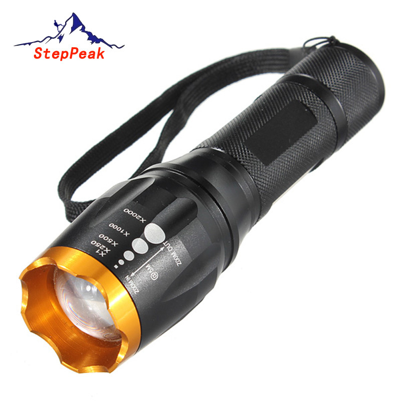 5-Mode Waterproof 2200lM CREE XM-L T6 Zoom Cree Led Flashlight Torch Light 3xAAA/18650 Battery Lanternas FLT-061 - StepPeak Outdoors Co Ltd store