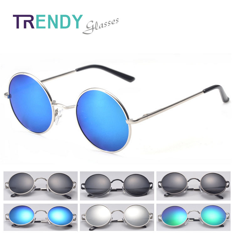 Vintage Round Polarized Sunglasses Men Sun Glasses Mirror Coating Lentes Eyewear oculos gafas de sol J10