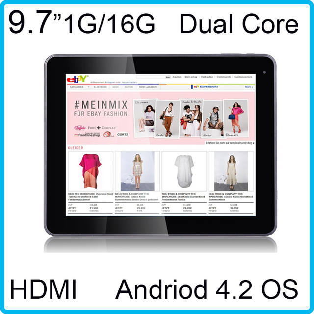 9.7inch 1GB/16GB  Dual Camera tablet 1.5GHz IPS screen RK3066 Dual Core android 4.1 tablet pc