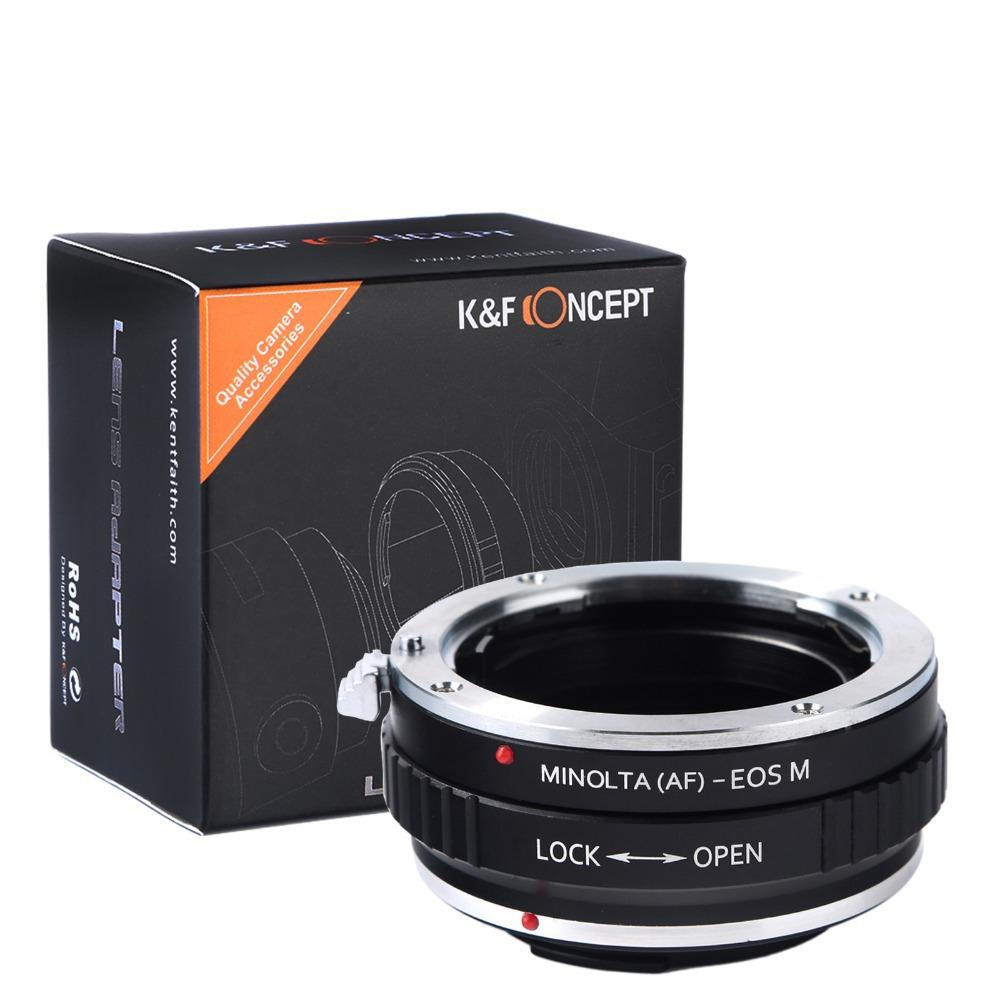 Lens Adapter Ring AF-EOS Sony Minolta Alpha AF Mount Lens Canon EOS M EF-M mount Lens Camera Body DSLR