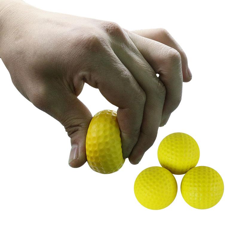 100% Best Retail golf practice ball PU Indoor Outdoor Training Practice Golf Balls Soft Light Yeloow color sport ball(China (Mainland))