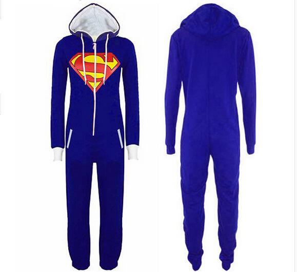 8955# foreign trade pattern leotard cartoon animation Superman pajamas CosPlay costume Home Furnishing sweater(China (Mainland))