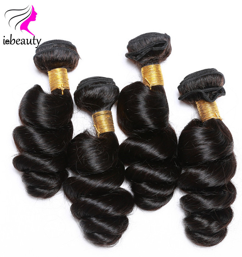 3 Bundles Brazilian Loose Wave with Closure Human Hair Weave 7A Unprocessed Virgin Hair Brazilian Virgin Hair With Closure Lace