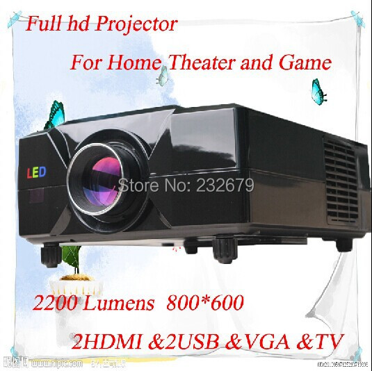 Made In China !!! 90% Light Uniformity 800*600 Resolution 60w Led Lamp 50000 Hour With HDMI USB VGA TV A/V Home Cinema Projector(China (Mainland))