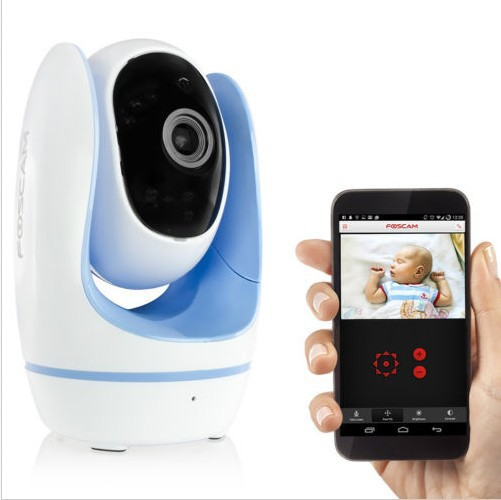 Newest Fosbaby Foscam HD Wireless Baby Monitor P2P CCTV Security IP Camera 1.0 MP Blue Free Shipping(China (Mainland))