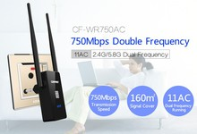 Comfast Dual Band 750 Mbps Wifi Repeater Roteador 802.11AC Wireless Router 2,4 GHz + 5 GHz CF-WR750 AC Wi fi Signa Verlängern Verstärker(China (Mainland))
