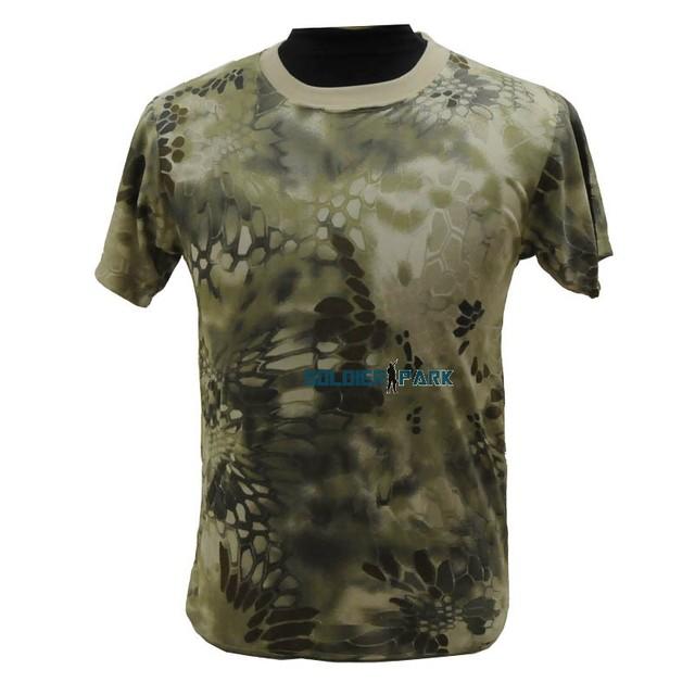 Полиэстер дышащий Wargame Airsoft тактический футболка военный пейнтбол камо быстрое высыхание камуфляж Tshirt мужчины безумная