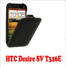 High quality leather Flip Case Cover for HTC Desire SV T326E mobile phone cover  + Free shipping(China (Mainland))