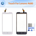 Touch panel for Lenovo A680 touch screen digitizer front outer sensor glass replacement repair tools black