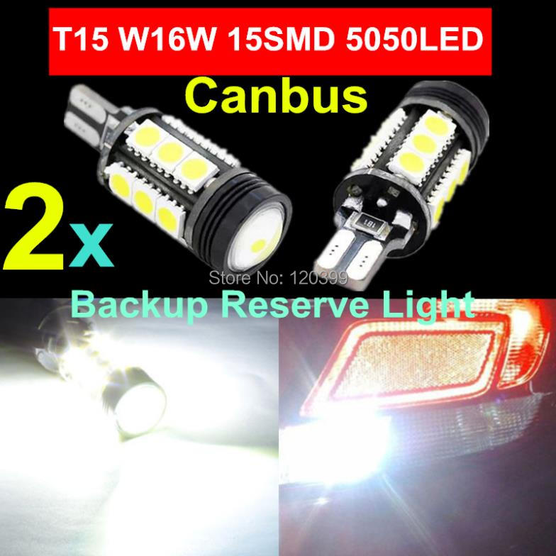 2pcs Supre White Canbus Error Free Cree Emitter LED T15 921 912 W16W LED Backup Reverse Lights lamps 360 Degrees 5050SMD Car Led(China (Mainland))