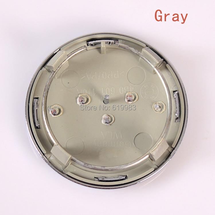 DHL 100pcs 69mm gray Wheel Center Cap / Wheel Hub Cap Cover Car Badge Emblem For A6 A8 Logo ALLOY BADGE,4B0601170A,Car styling(China (Mainland))