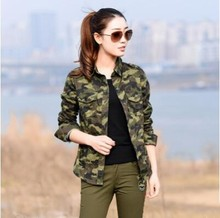 2017 Women Blouses Spring Cotton Casual Turn-down Collar Camouflage Shirt Women Tops Blusas Mujer S M L XL 2XL(China (Mainland))
