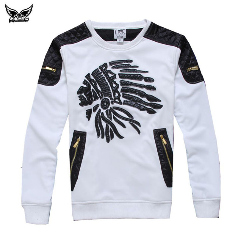 Brand Clothing 2016 Men's Leisure Baseball Jerseys Indian Head Embroidery O-neck Long Sleeve Sport Jerseys Plus Size Stock In US(China (Mainland))