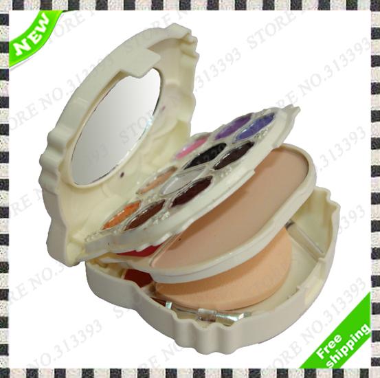 High Quality Women Eyeshadow Blush Make-up Eye shadow Foundation Lipstick Cream Hello Kitty Palette 2515 New in Box Kit Set 1Pcs(China (Mainland))