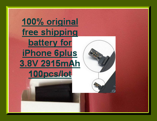 free shipping by DHL TNT Fedex IE 100pcs/lot hot wholesale 100% Guarantee Original battery for iphone 6plus replace battery(China (Mainland))