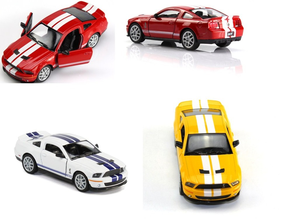 Red white Yellow 3 colors1:38 Diecast Car Model Ford Mustang shelby GT500 w/o Box Free Shipping(China (Mainland))
