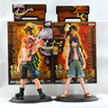 2pcs set 16cm One Piece Monkey D Luffy ace anime figures Action Figures PVC toys juguetes