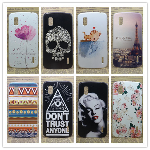 2016 Hot New Multi Species Eiffiel Towel Painting Hard Plastic Phone Case Cover For LG Google Nexus 4 E960+Screen Protector(China (Mainland))