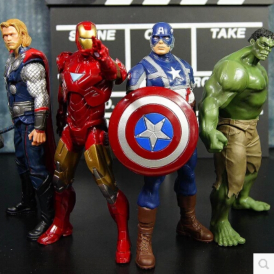 4pc/set The Avengers 18 cm Captain America Thor hulk Iron man the Action Figures Toy Gifts Toys Compatible Action Figure(China (Mainland))