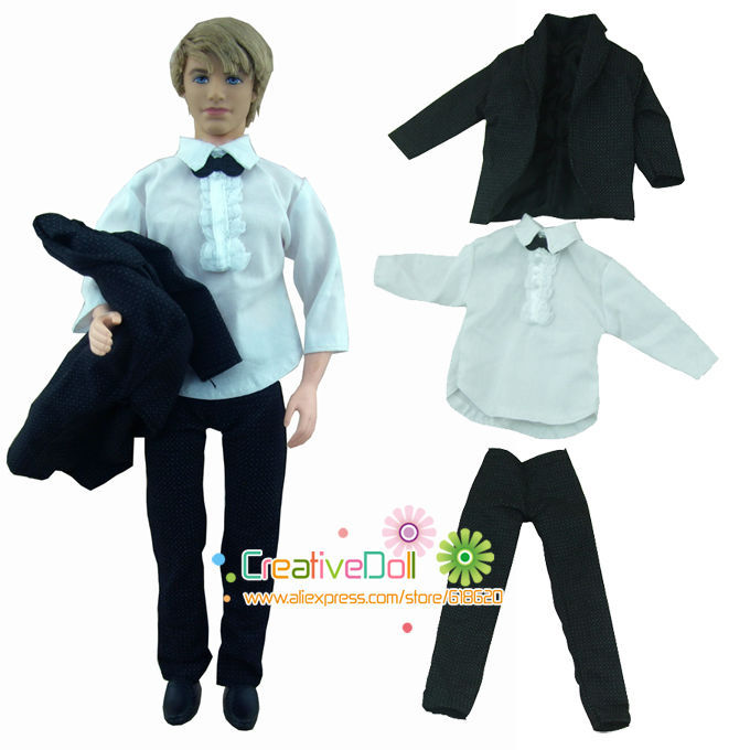 new arrvial (3 pieces=outwear + shirt + pants )clothes suit set for barbie doll boy firend ken doll(China (Mainland))