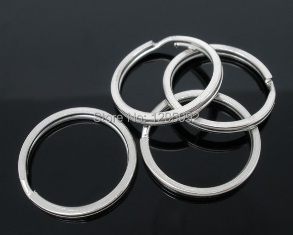 600 PCs Hot New DIY Silver Tone Jump Split Rings Key Rings Jewelry Making Component 25mm Free shipping<br><br>Aliexpress