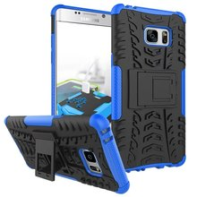 Buy Tire Style Tough Rugged Dual Layer Hybrid Hard KickStand Duty Armor Case Samsung Galaxy Note 7 Cover for $3.92 in AliExpress store