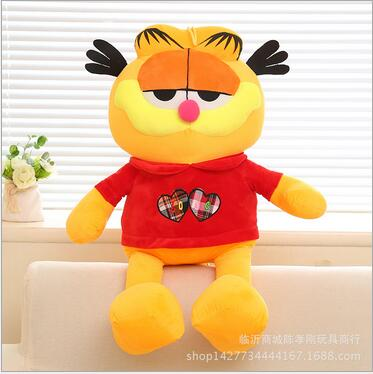 Children Stuffed Toy kids doll plush baby toys Garfield with red coat Christmas birthday gift(China (Mainland))