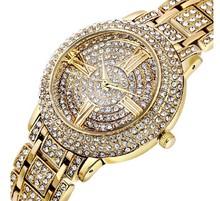 Envío gratis nuevas adquisiciones 30 m impermeable moda de calidad mujeres checa cristal de lujo reloj de negocios Party Banquet