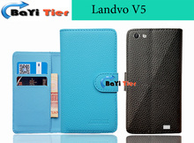 Aierwill-leather case Landvo V5 Wallet Card Slots Stand Cover Coque Protective - BaYiTier Technology Co., Ltd store