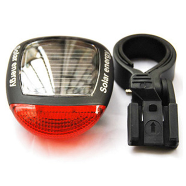 Solar Bicycle Accessories Bicycle Laser Tail Light Mountain Bike Taillight Water Resistant Bike Light Safety Rear Led Light(China (Mainland))