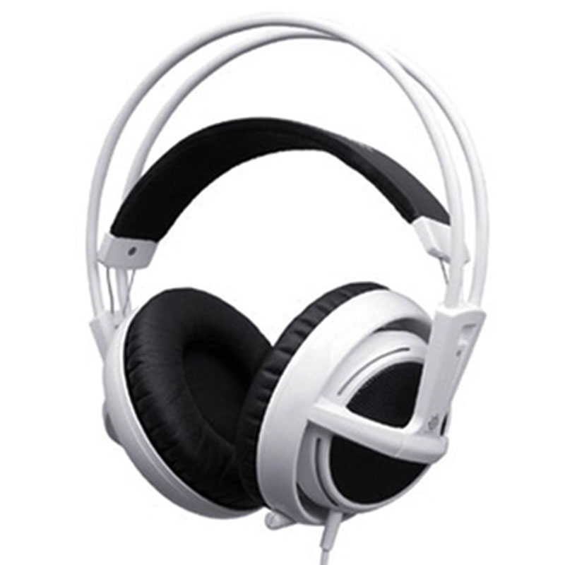 New fashion style White color Steelseries Siberia V2 Gaming Headphone, FPS Gaming Headphone Drop shipping Computer Speakers<br><br>Aliexpress