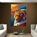 Decorative abstract animal cheap modern painting hd printed animal canvas wall art frameless painting tiger painting
