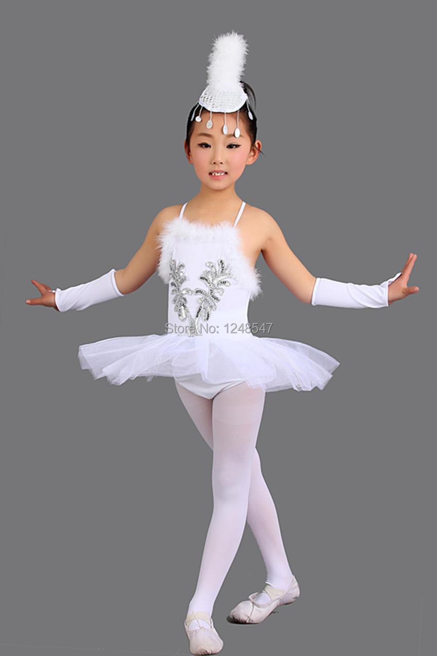 Retails Children Elegant Classic White Swan Lake Perform Stage Dress Dance Ballet Tutu Costume - Aler Studio store