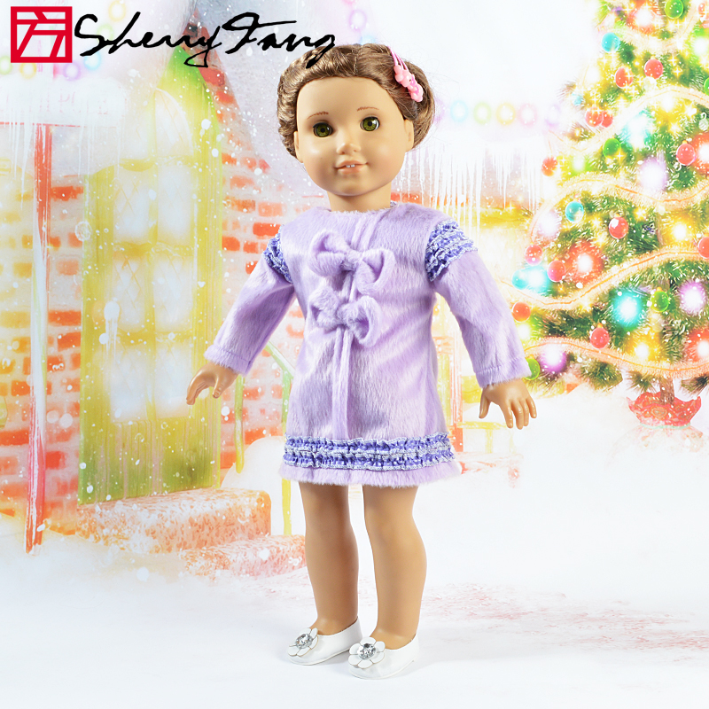 Purple Sherry Handmade Skirt Dress/Clothes Doll  Accessory For 18  American Girl  6-AGO-3<br><br>Aliexpress