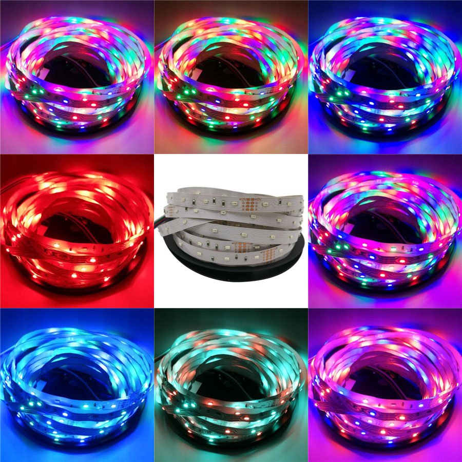 rgb strip led 5m/lot 3014 non-waterproof SMD12V tapes flexible light led/m, LED strip RGB diode tape led strip(China (Mainland))