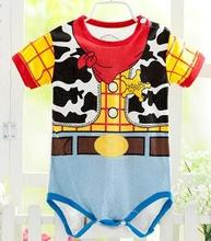 Retail New fashion Newborn Summer Style Short Sleeve Baby Rompers / Cartoon Baby Boy Clothes / Baby Clothing Girl Costumes(China (Mainland))